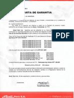 Carta de Garantia
