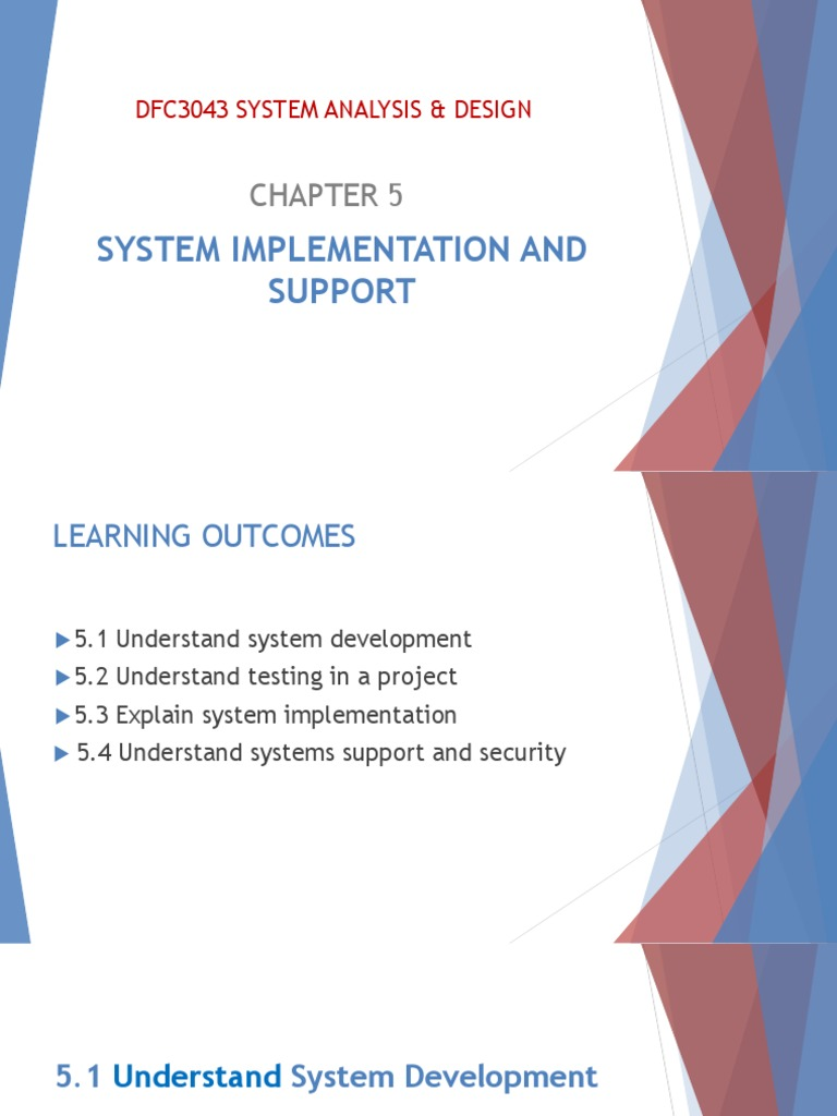 Chapter 5 System Implementation And Support Pdf Conceptual Model Backup