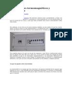 Interruptores Termomagnéticos y Diferenciales