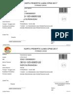 Kartu Ujian Cpns 2017 i Dri