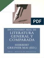 Diccionario Akal de Literatura General y Comparada - Greiner Mai Herbert