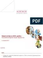 Nalazi revizije za Agrokor za 2016. godinu