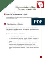 Modulo 4 Implementacion Del Nuevo Regimen Del Servicio Civil
