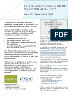 Humanities Seminar Programme November 13th 2017