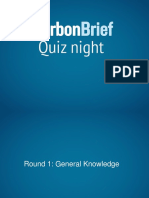 Carbon Brief Quiz 2017 Questions and Answers