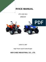 Adly ATV-320 Servicemanual