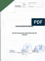 Evaluacion de Riesgo - Estretegias de Prevencion de Caidas