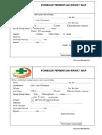 001. Surat Permintaan Rawat Inap REVISI