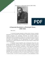 A Esquerda Dissidente e a Revolução Russa