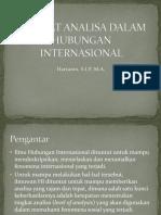 Tingkat Analisa Dalam Hubungan Internasional