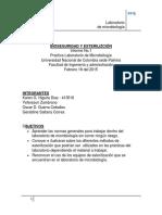 Informe Bioseguridad y esterilización Microbiologia