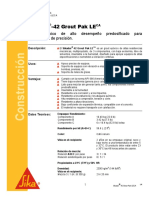 Grout Epoxico Aplicaciones Presicion Sikadur 42 Grout Pak Le