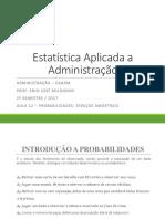 AULA 12 - PROBABILIDADES - ESPAÇOS AMOSTRAIS.pptx