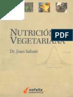 Nutrición Vegetariana - Dr Joan Sabaté
