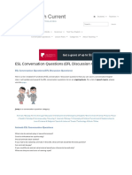 ESL Conversation Questions (EFL Discussion Questions on Many To