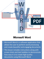 word 2010 lesson