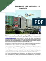 Kasus Juru Parkir Ditodong Pistol Oleh Dokter, TNI Buka Suara