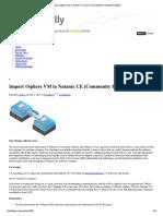 Import VSphere VM to Nutanix