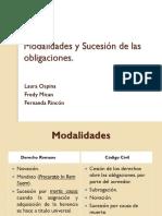 Modalidades y Sucesión de Las Obligaciones