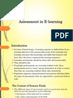 Assessment in E Learning