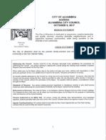 Alhambra City Council Agenda - October 9, 2017