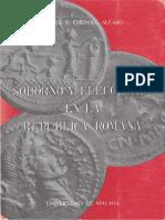 Soborno y elecciones en la República romana