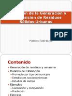3.2 Estimacion de La Generacion y Composicion de Residuos Solidos Urbanos