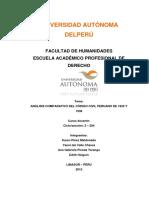 Monografía Derecho Civil de 1852, 1936 y 1984