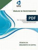 Análise de Investimentos - Técnicas