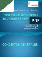 Perfil Asesor Jurídico y Dirección de Empresas