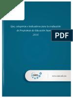 Ejes Categorias e Indicadores Para La Evaluacion de Un Programa de Educacion Superior