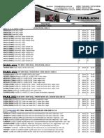 Lista de Precios HALION 02 de Agosto 2017