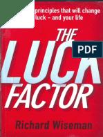 The Luck Factor Richard Wiseman PDF