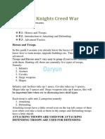 The Art of Knights Creed War v 1.1