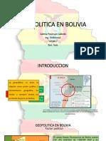 Geopolitica en Bolivia