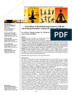 Association of physiological parameters with the throwing performance among the male softball players