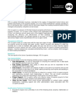 IPD Job Description Performance Analyst 2010 (Amended)