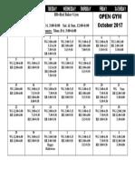 2017 October Open Gym