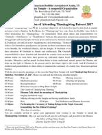 The Invitation Letter of Attending Thanksgiving Retreat 2017