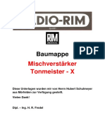 Baumappe Tonmeister X