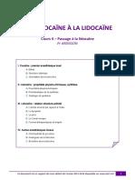 UE8 Pharma Cours 4 - Passage à La Lidocaïne Tutorat 2013-2014