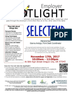 Employer Spotlights November 2017