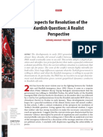 Prospects for Resolution of the Kurdish Question a Realist Perspective