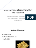 geo minerals from nhs collection