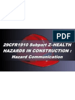 OSHA 10 Slides 03 - Hazard Communication