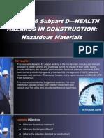 OSHA 10 Slides 04 - Hazardous Materials