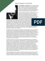 Friedrich August Von Hayek - Los Intelectuales y El Socialismo (Artículo Escrito en Primavera de 1949)