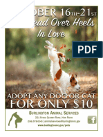 $10 Adoption Special At Burlington Animal Services