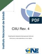 Notas Explicativas CIIU Rev. 4