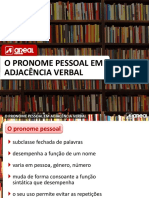 Pronome Em Adjacencia Verbal (1)